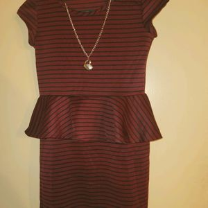 Kids formal dress with chain